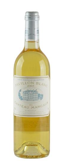 2003 Margaux, Pavillon Blanc du Chateau Bordeaux Blanc