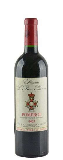1983 Bon Pasteur Bordeaux Blend