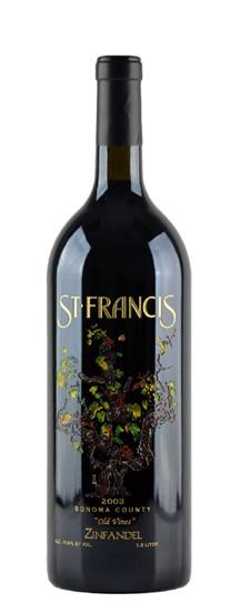 2003 St Francis Zinfandel Old Vines