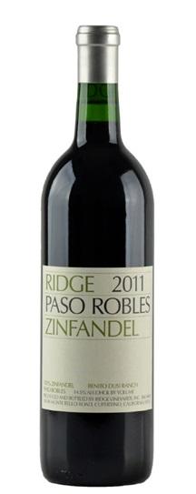 2011 Ridge Zinfandel Paso Robles