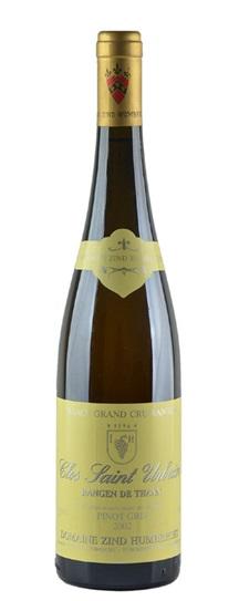 2002 Zind Humbrecht, Domaine Pinot Gris Rangen de Thann Clos St Urbain