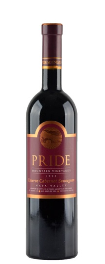 2000 Pride Mountain Vineyards Cabernet Sauvignon Reserve