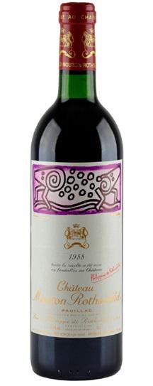 1988 Mouton-Rothschild Bordeaux Blend