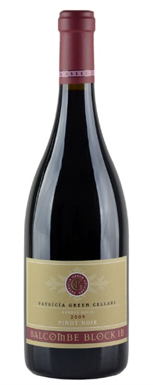 2009 Patricia Green Cellars Pinot Noir Balcombe Vineyard Block IB