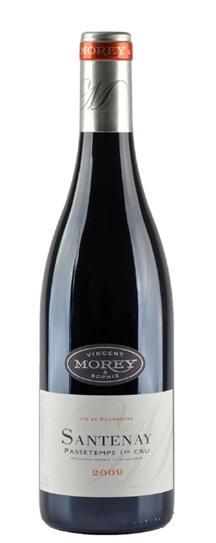 2009 Domaine  Vincent & Sophie Morey Santenay Passetemps Premier Cru