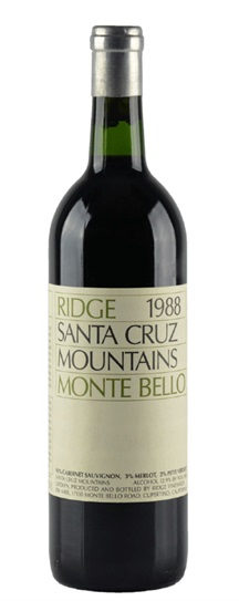 1988 Ridge Monte Bello
