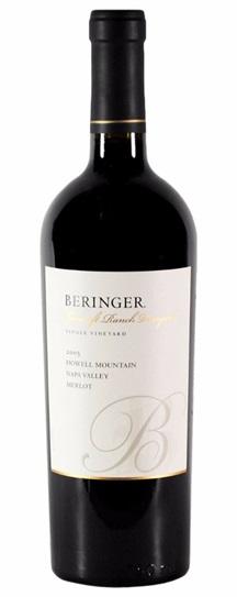 2001 Beringer Merlot Bancroft Ranch
