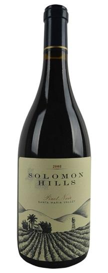2008 Solomon Hills Winery Pinot Noir Solomon Hills Vineyard