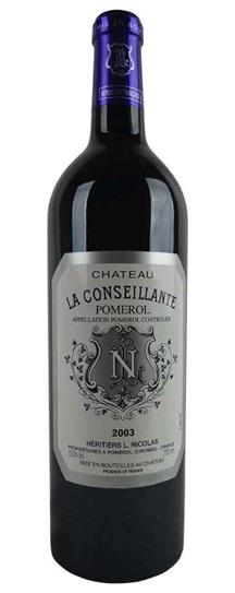2003 Conseillante, La Bordeaux Blend