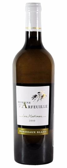 2010 Domaine d'Arfeuille Bordeaux Blanc