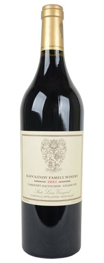 2011 Kapcsandy Family Winery Cabernet Sauvignon Grand Vin  State Lane Vineyard