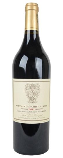 2011 Kapcsandy Family Winery Cabernet Sauvignon Grand Vin  State Lane Vineyard