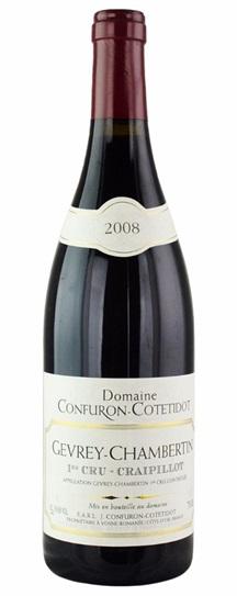 2008 Confuron-Cotetidot, J Gevrey Chambertin Craipillot