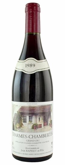 1989 Raphet, Domaine Jean et Fils Charmes Chambertin Grand Cru