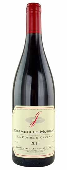 2011 Grivot, Domaine Jean Chambolle Musigny Combe d'Orveaux