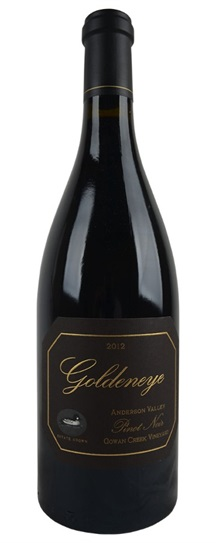 2012 Goldeneye (Duckhorn) Pinot Noir Gowan Creek Vineyard