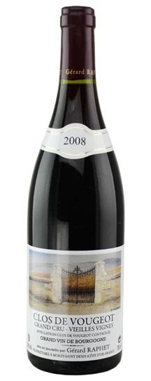 2008 Raphet, Domaine Gerard Clos Vougeot Vieilles Vignes