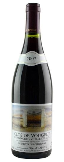 2007 Domaine Gerard Raphet Clos Vougeot Vieilles Vignes