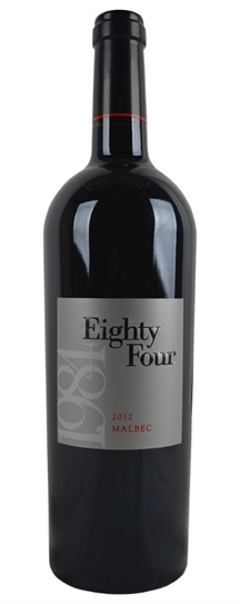 2012 Eighty Four Wines Eighty-Four Wines Malbec