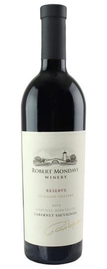 2012 Robert Mondavi Winery Cabernet Sauvignon Reserve
