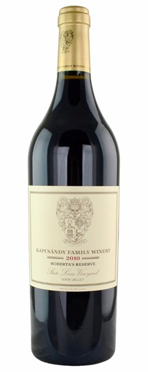 2010 Kapcsandy Family Winery Roberta's Reserve State Lane Vineyard