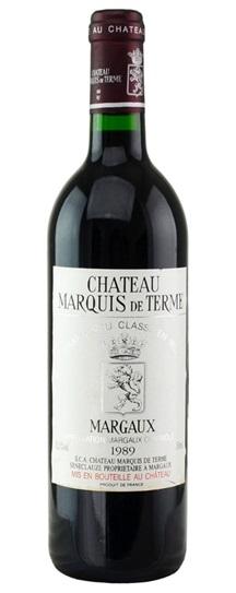 1989 Marquis-de-Terme Bordeaux Blend