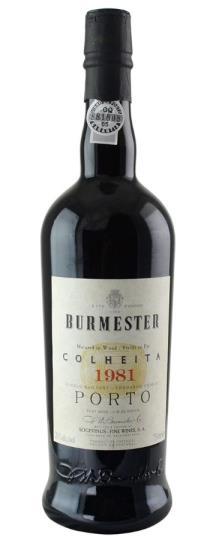 1981 J W Burmester Colheita Port