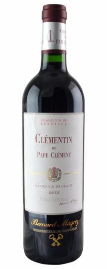 2012 Le Clementin (Pape Clement) Bordeaux Blend