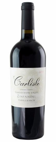 2014 Carlisle Winery Zinfandel Papera Ranch