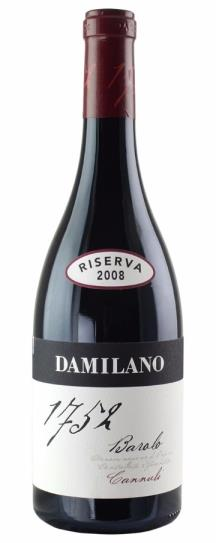 2008 Damilano Barolo Cannubi Riserva 1752