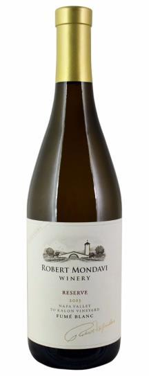 2013 Robert Mondavi Winery Fume Blanc To Kalon Estate Reserve