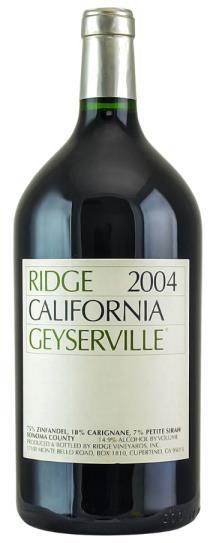 2004 Ridge Geyserville Proprietary Red Wine