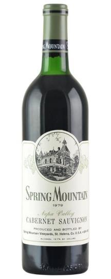 1979 Spring Mountain Vineyard Cabernet Sauvignon
