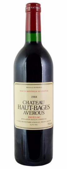 1990 Haut Bages Averous Bordeaux Blend
