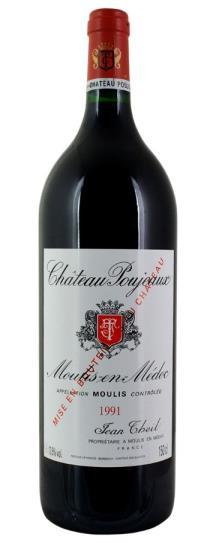 1991 Poujeaux Bordeaux Blend