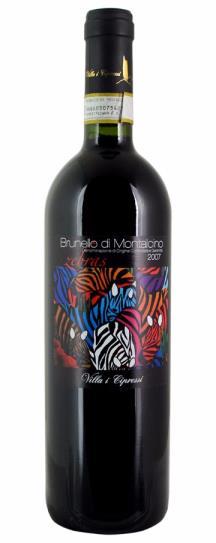 2007 Villa I Cipressi Brunello di Montalcino Zebras