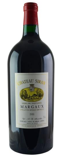 1981 Siran Bordeaux Blend