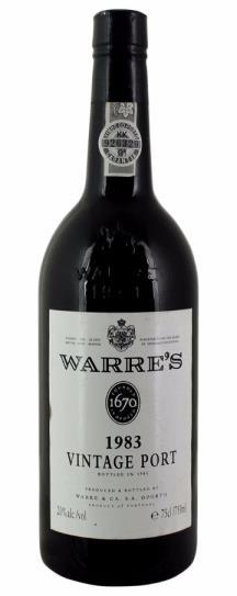 1983 Warres Vintage Port, Portugal: