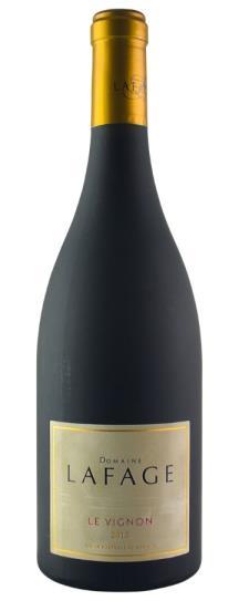 2012 Domaine LaFage Cotes du Roussillon Le Vignon