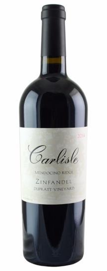 2014 Carlisle Winery Zinfandel DuPratt Vineyard