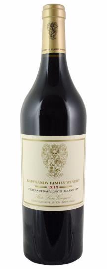 2013 Kapcsandy Family Winery Cabernet Sauvignon Grand Vin  State Lane Vineyard