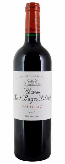 2014 Haut Bages Liberal Bordeaux Blend