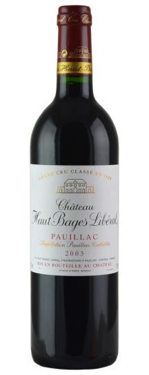 2003 Haut Bages Liberal Bordeaux Blend