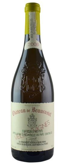2008 Chateau Beaucastel Chateauneuf du Pape Blanc Roussanne Vieilles Vignes