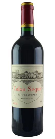 2005 Calon Segur Bordeaux Blend