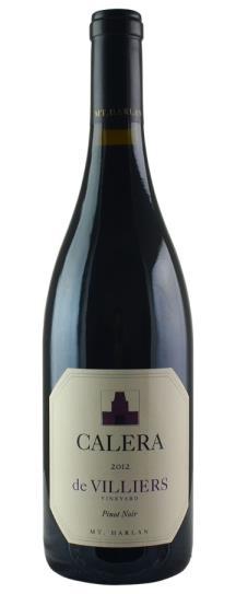 2012 Calera Pinot Noir de Villiers
