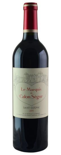 2015 Marquis de Calon Bordeaux Blend