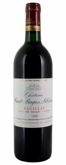 1989 Haut Bages Liberal Bordeaux Blend