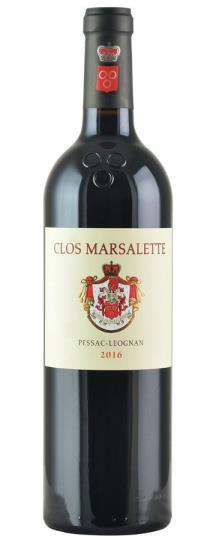 2016 Clos Marsalette Bordeaux Blend