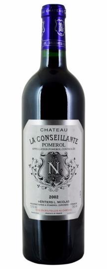 2002 Conseillante, La Bordeaux Blend